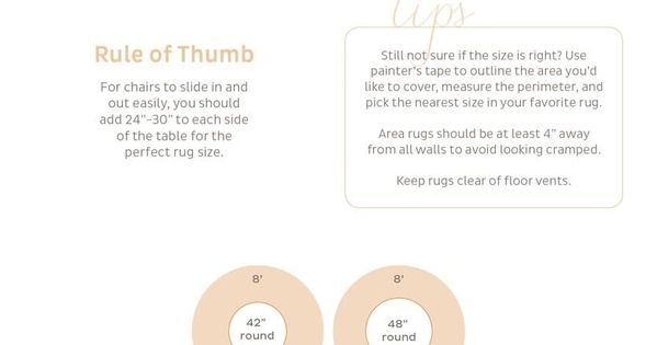 Guide To Choosing A Rug Size With Images Dining Room Rug Rug