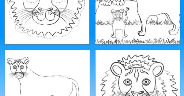 Lion Colouring & Activity Book Printable- Colour In, Join