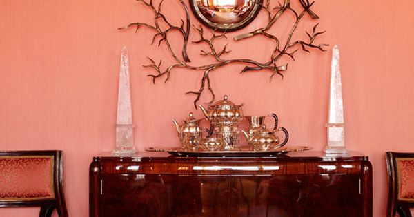 Wall Colors, Wall Art, Coral Pink, Interiors, Living Room, Wall Mirrors, Home
