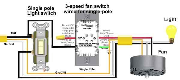 3 Speed Fan Switch Wire Switch Home Electrical Wiring House Wiring