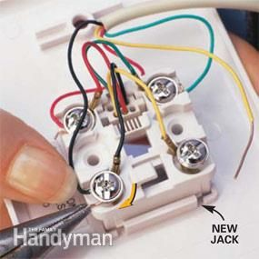 Replace A Wall Phone Jack And Phone Jack Wiring Phone Jack Wall Phone Jack Telephone Jack