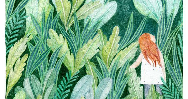 green garden on Behance  그림셋  Pinterest  동화, 일러스트레이션 및 ...