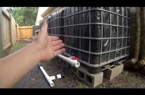 Step 5 Ibc Rainwater Harvesting System Connecting And