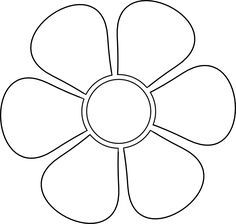 Image Result For Printables 6 Petals Flowers Templates Flower