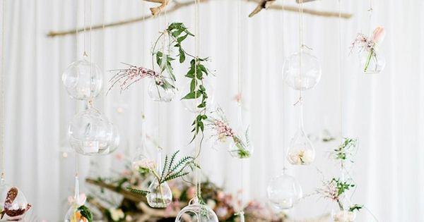 lampe bois flott diy avec boules en verre pour plantes a riennes en tant que d co mariage. Black Bedroom Furniture Sets. Home Design Ideas