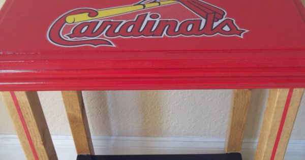 St Louis Cardinals Man Cave Ideas : St louis cardinals inspired table man cave manly decor