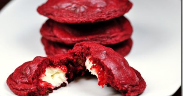 Red velvet cream cheese stuffed cookies - very good, but very sweet.