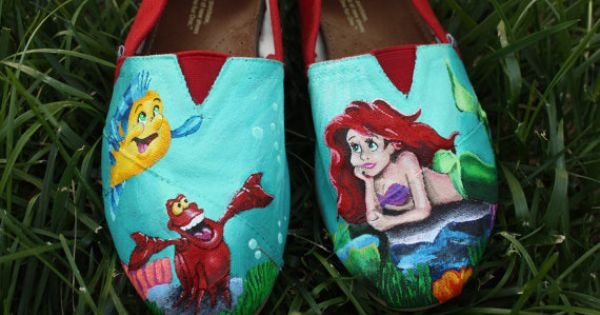 Disney Little Mermaid Toms For Grace Zook