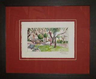 Ideas Novedades Trucos Y Consejos En Enmarcación Como Enmarcar Una Acuarela O Grabado A La Vista Painting Watercolor Paintings Painting Frames