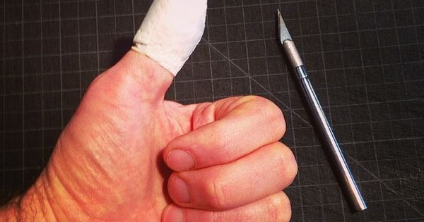 Tips on using an acto knife without it ending in