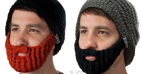 The Original Beard Hat Knitted beanie with detachable, foldaway beard