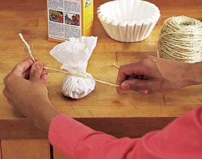 10 Uses For Coffee Filters - 3. Make an Air Freshner -