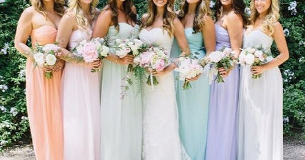 We'll never tire of pretty bridesmaids in pastels & flower crowns photo