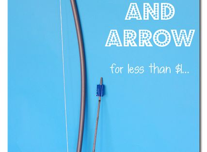 how to make a bow and arrow for kids