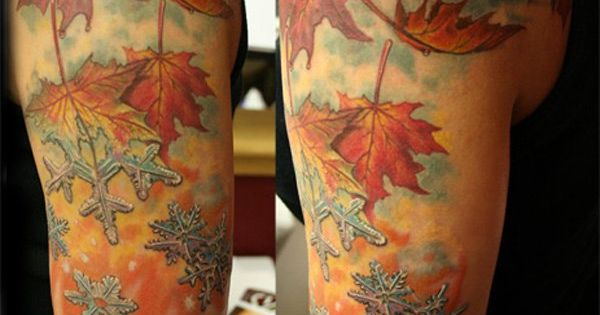3 fall to winter scene | Sleeve tattoos | Pinterest ...