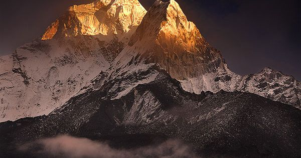 Clearing Storm over Ama Dablam : Ama Dablam is in the heart