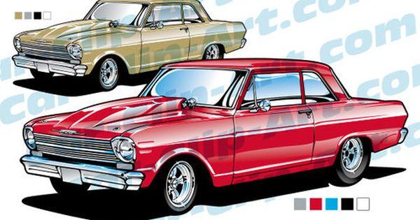 1963 Chevy Nova Ii Drag Racer Clip Art Car Clip Art Com Chevy Nova Chevy Volkswagen New Beetle