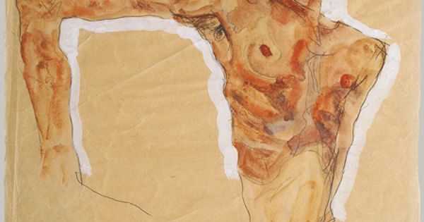 Egon Schiele Austrian, 1890–1918 Self-Portrait, 1911 Watercolor, gouache, and graphite on paper