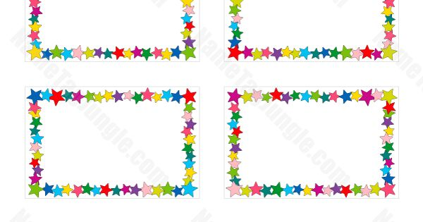 free printable star name tags  the template can also be