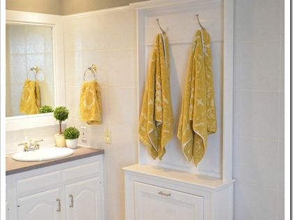 Bathroom towel rack tutorial.
