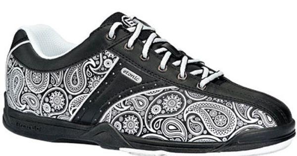 etonic paisley black white bowling shoes doodle