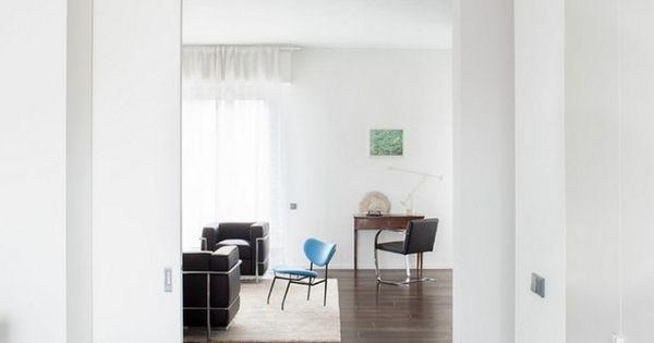 Schiebetur Kuche Wohnzimmer Weiss Furnier Modern Minimalistisch   Esszimmer  Nottuln