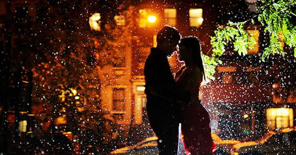 When It Rains It Snows by Ryan Brenizer / beautiful love kisses