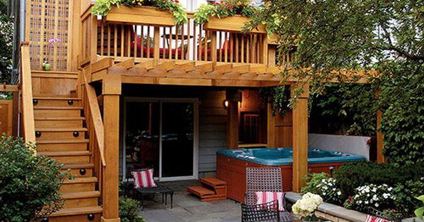 Sfeervolle tuin met balkon terras leuke tuin idee n pinterest balkon terras en tuin - Moderne woning buiten lay outs ...