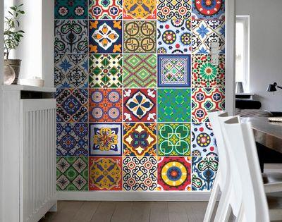 Vinilo para azulejos especial talavera 10 x 10 cm - Azulejos de vinilo ...