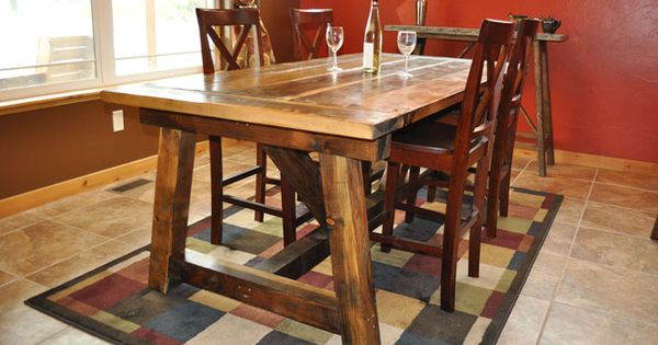 Rustic Farmhouse Table With Distressed Finish Free Plans