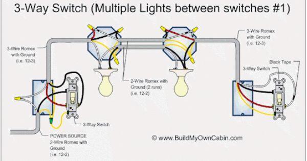 3 Way Switch Multi Light Wiring Diragram 110volt Light Switch Wiring 3 Way Switch Wiring Three Way Switch