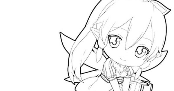 Pin By Spetri On Lineart Sword Art Online Chibi Coloring Pages Princess Coloring Pages Chibi