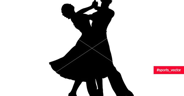 Couple Dancers Black Silhouette On Competition In Ballroom Dancing Dancing Couple Silhouette Dancer Silhouette Couple Silhouette