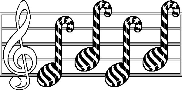 Music Note Candy Canes Hmm