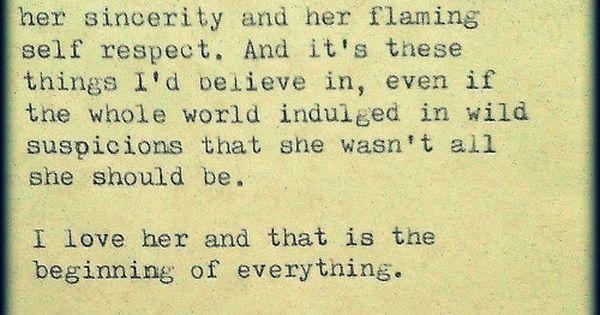 F. Scott Fitzgerald is a man after my heart
