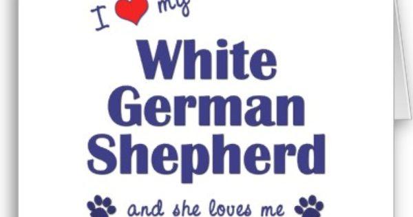 Google Image Result For Http Rlv Zcache Com I Love My White German Shepherd Female Dog Card P1370025184420623 White German Shepherd German Shepherd Dog Cards