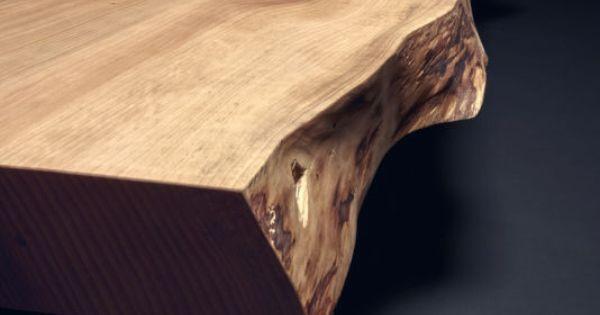 baumtisch esstisch unverleimt aus einem st ck zedern holz. Black Bedroom Furniture Sets. Home Design Ideas