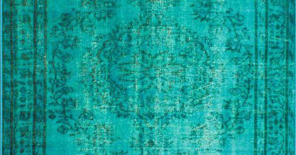 Turquoise antique rug