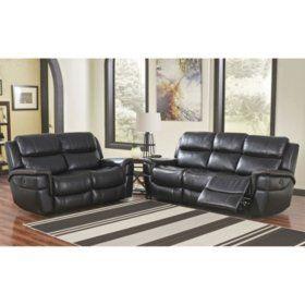 Maxwell Power Reclining Sofa And Loveseat Sam S Club Living Room Sets Power Reclining Sofa Leather Sofa Living Room