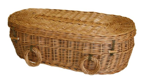 Woven Basket Casket : Each one of the wicker willow coffins has been caringly