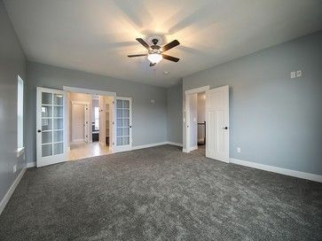Rosetta Blue Bedroom Walls And White Trim Gray Carpet Craftsman