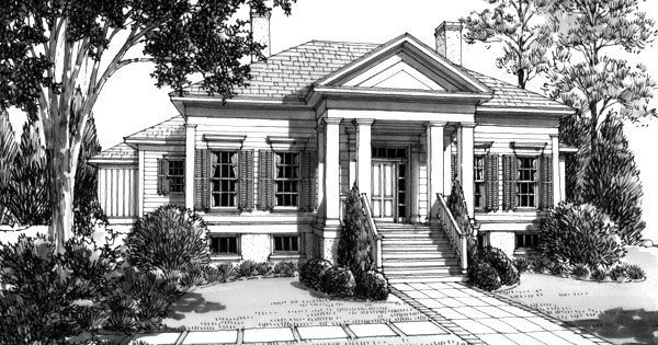 Southern Charm Pecan Grove House Plan By L Mitchell: southern charm house plans