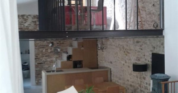Verri re en mezzanine et suspension type atelier mezzanine pinterest mezzanine verri re for Pinterest chambre enfant verriere
