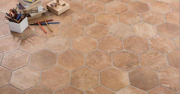 Gres porcellanato esagonale rustico effetto cotto for Piani di casa sotto 600 piedi quadrati