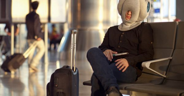 Fall asleep anywhere thanks to Kawamura-Ganjavian's amazing Ostrich Pillow. ....Or maybe I'll
