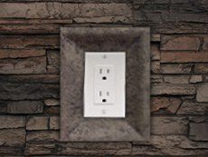 Your Decorative Outlet Covers Will Look Great Next To Faux Panels Faux Panels Faux Stone Walls Outlet Covers