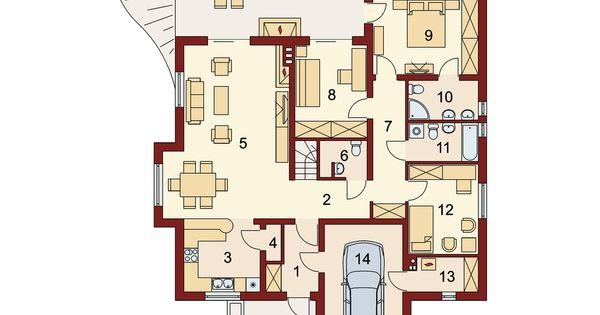 Projekat moderne prizemne ku e s gara om ramzes kuca iz snova pinterest - Lay outs huis idee ...