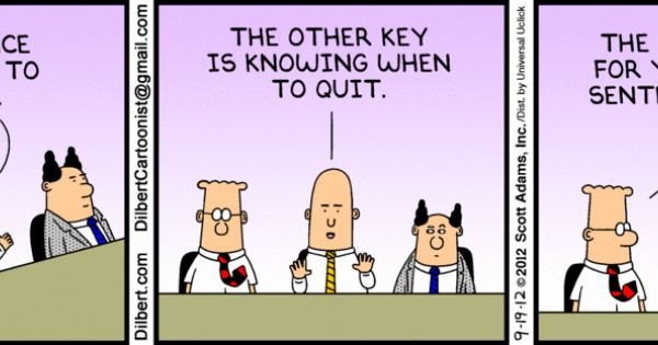 The Dilbert Strip for September 19, 2012 - Persistence is ...