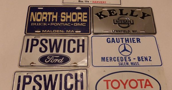 7 Lot Misc Plate Covers Fronts Ipswich Ford Kelly Nissan Mass And More Ipswich Nissan Ford