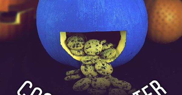 How To Make A Cookie Monster Pumpkin Cookie Monster